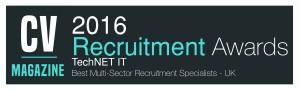TechNET IT-Recruitment Awards 2016 (RE160017) Winners Logo